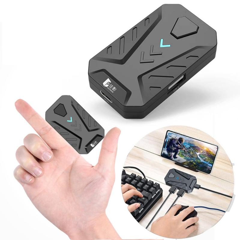 Gamwing MIX Mobile Game Keyboard Mouse Converter Type-C 5V Interface And Wireless Via Bluetooth 4.0 Connection For Android  IOS