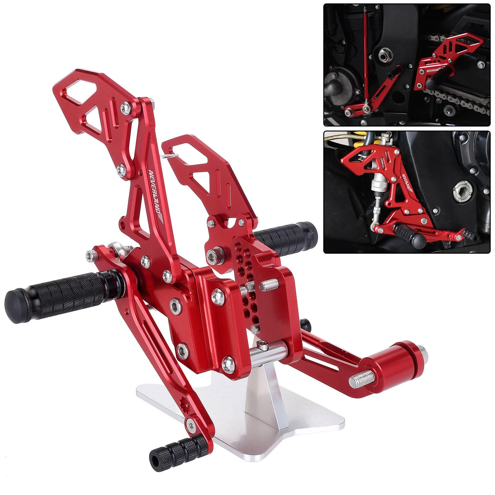 Preto vermelho Da Motocicleta CNC Footrest Pé Pegs Pedal Set Para Suzuli Reat GSXR GSX R 600 750 GSX-R D40