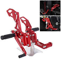 Red Black CNC Motorcycle Reat Footrest Foot Pedal Pegs Set For Suzuli GSX R 600 750 GSX-R GSXR D40