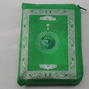 Image 4 - イスラム教徒祈りの敷物ポリエステルポータブル編組マット単にで印刷コンパスでポーチ旅行ホーム新スタイルマット毛布 100*60 センチメートル