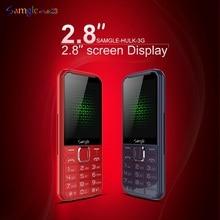 """Samgle Senior мобильный телефон 3g WCDMA 2,"""" дисплей Тонкий прочный функция телефон Быстрый набор супер долгий режим ожидания фонарик Whatsapp"""
