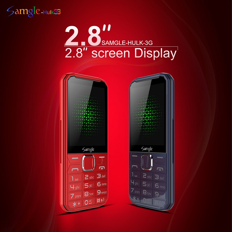 "Samgle Senior Mobile Phone 3G WCDMA 2.8"" Display Slim Rugged Feature Phone Speed Dial Super Long Standby Flashlight Whatsapp"