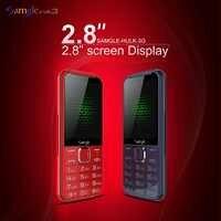 """Samgle starszy telefon komórkowy 3G WCDMA 2.8 """"wyświetlacz Slim wytrzymała funkcja telefon prędkość wybierania Super długi czas czuwania latarka Whatsapp"""