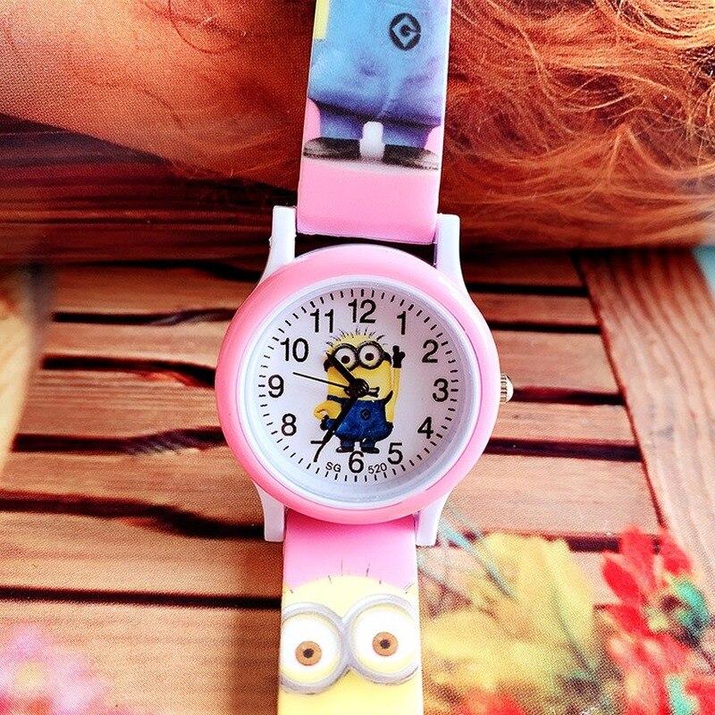 Hot Fashion Children's Cartoon Minions Silicone Print Belt Watch Boys And Girls Not Waterproof Leisure Quartz Watch