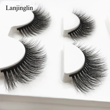 New 3 Pairs mink lashes 3d natural eyelash extension long false eyelashes Makeup faux cils full strip lashes 11mm #3D-X03
