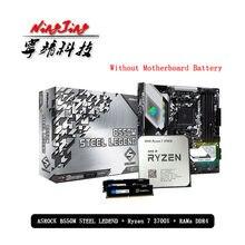 AMD Ryzen 7 R7 3700X CPU + ASROCK B550M stal legenda płyta główna + pumetou DDR4 8G 16G 2666MHz RAMs garnitur gniazdo AM4 bez wentylatora