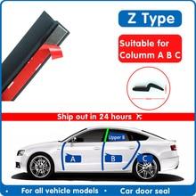 Bande détanchéité de type Z pour automobile, 2 mètres, isolation phonique, haute qualité