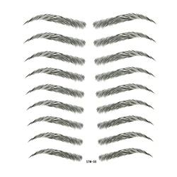 (9-7) 3D Fake Eyebrow Bionic Women Temporary Tattoos Sleeves Tatoo Waterproof Stickers Eye Brow Henna Tattoo Sticker
