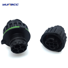 2sets Tyco 4Pins round HOWO A7 odometer speed sensor plug male and female car sealed connector 1-967402-1 1-967325-1 20 sets 4 pin amp te 1 967402 1 1 967325 3 male