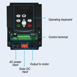 Солнечный водяной насос инвертор постоянного тока в переменный ток 0,75 кВт-11 кВт 220 В или 380 в выходной регулятор скорости переменной частоты ...