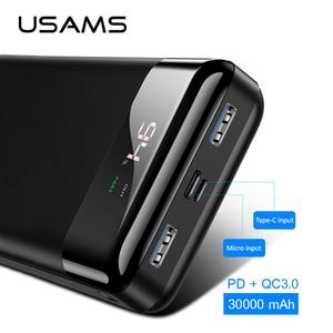 USAMS 3000 mAh Power Bank LED