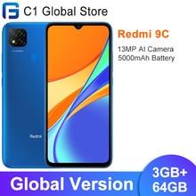 Versão global xiaomi redmi 9c 3gb 64gb smartphone helio g35 octa núcleo 6.53