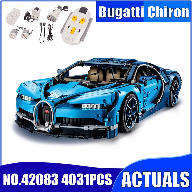 Bricks Compatible Building-Blocks Legoed Bugatti Race Car Technic Christmas-Gift Car-Chiron title=