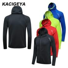 Sports Jacket Sweatshirts Hoodie Soccer Workout Zipper-Coat Long-Sleeves Training Jogging