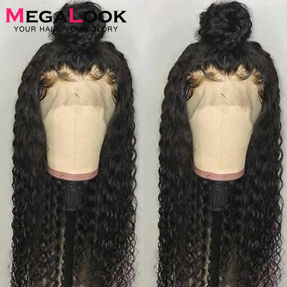 Malaysian Curly Wig 30 Inch Lace Frontal Human Hair Wigs 360 Lace Frontal Wig 180% Remy Wig Pre Plucked With Baby Hair For Women