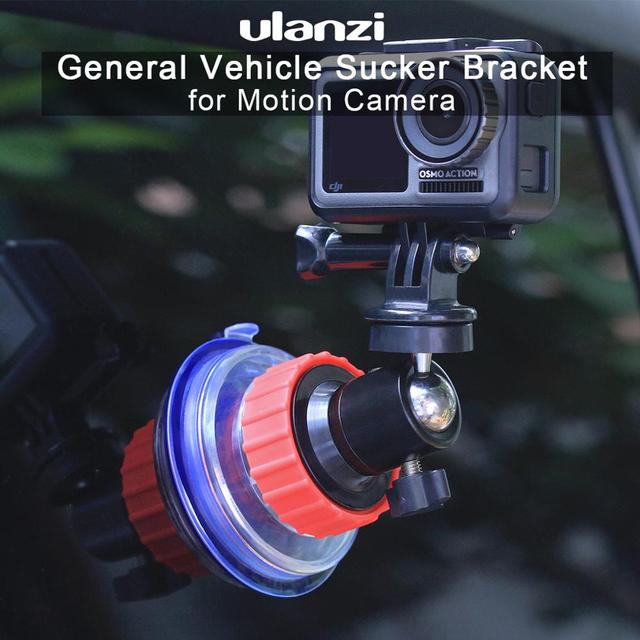 Ulanzi U 50 Action Camera Suction Holder Mount for Dji Osmo Action Gopro Eken Sucker Holder Car Holder Mount Glass Suction Cup