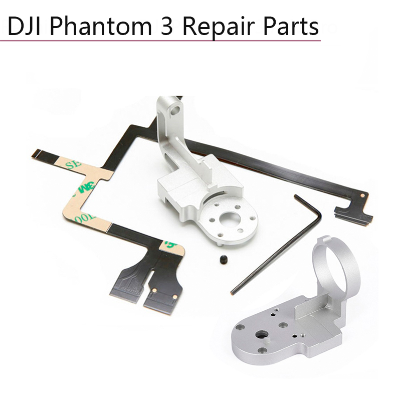Repair Parts For DJI Phantom 3 Adv Pro 4K Camera Drone Gimbal Camera Yaw Arm Roll Bracket Flat Ribbon Cable Flex Gimbal Mount