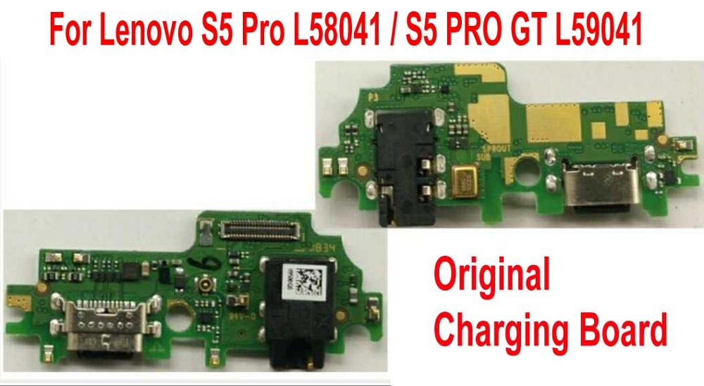 100% Original USB Charging Board Charge Flex Cable For Lenovo S5 Pro L58041 / S5PRO GT L59041 Motherboard Main Board Flex