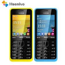 Nokia 301 remodelado-original nokia 301 desbloqueado wcdma 2.4 cards dual cartões sim duplos 3.2mp telefone móvel remodelado