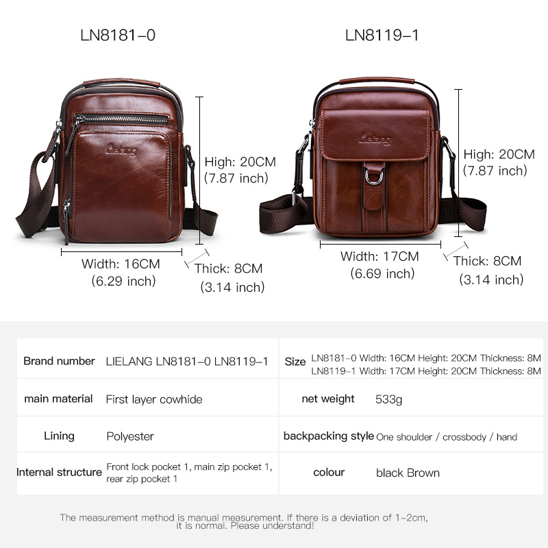Image 5 - Men Bag Crossbody bag 100%genuine Leather Messenger Bag Men Shoulder Brown Bag Handbag Crossbody Vintage Cowhide Travel Male Bag-in Crossbody Bags from Luggage & Bags