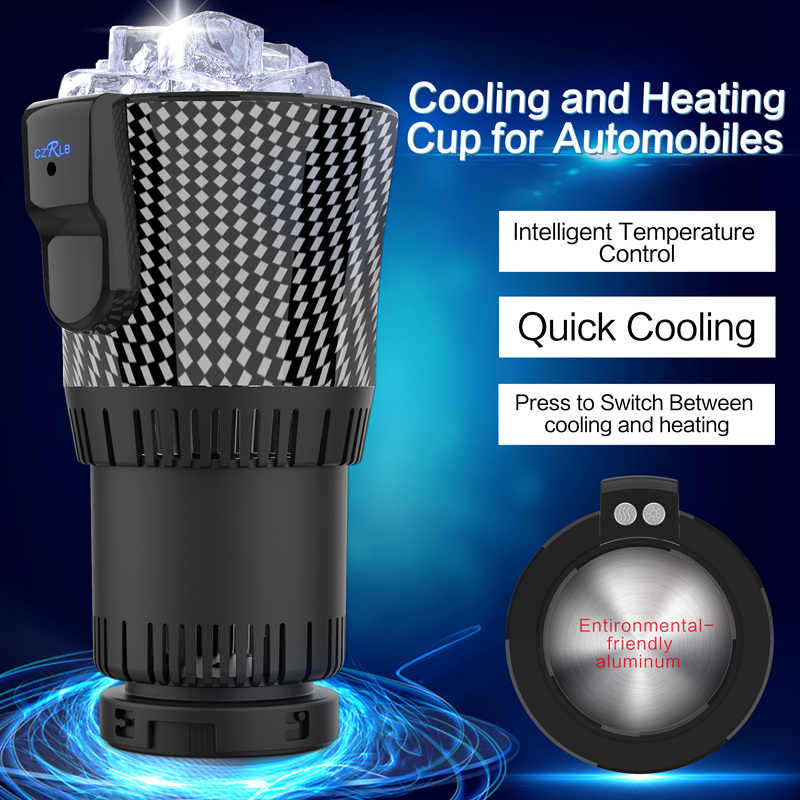 DC 12V Car Cup Holder Cooler & Warmer Auto Cup Drink Holder Cooling Freezer Cup Heating Cooler Refrigerator for Travel Driving