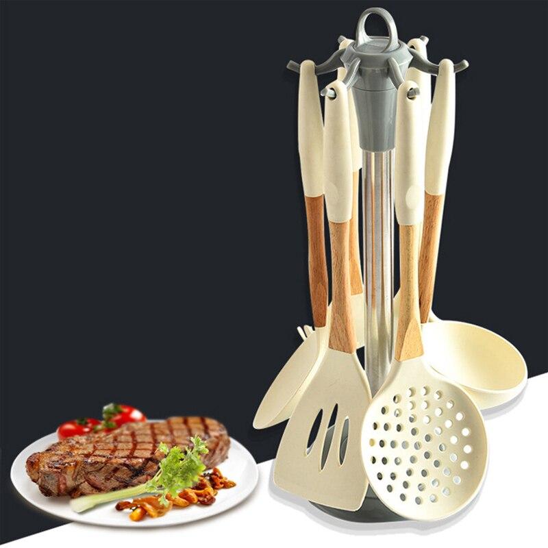 Новый набор инструментов для приготовления пищи, 6 шт., набор кухонной посуды премиум класса, набор Тернер, ложка для супа, ситечко, паста, Серверная ложка|Наборы кухонных инструментов|   | АлиЭкспресс