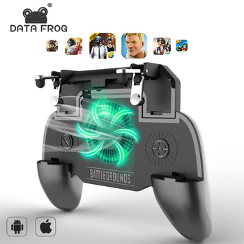 DATA FROG For PUBG Mobile Gamepad For PUBG Controller Trigger Aim L1R1 Shooter Joystick For IPhone Android Phone For Free Fire pubg mobile gamepad pubg controller for iphone android ios for phone l1r1 grip with joystick trigger l1r1 pubg fire buttons