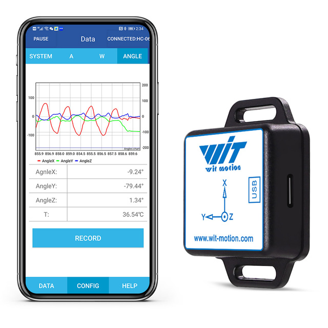 BWT61CL High Precision Bluetooth Accelerometer+Gyroscope+Angle(XYZ, 100HZ), 6 Axis MPU6050 AHRS Inclinometer, Support PC/Android