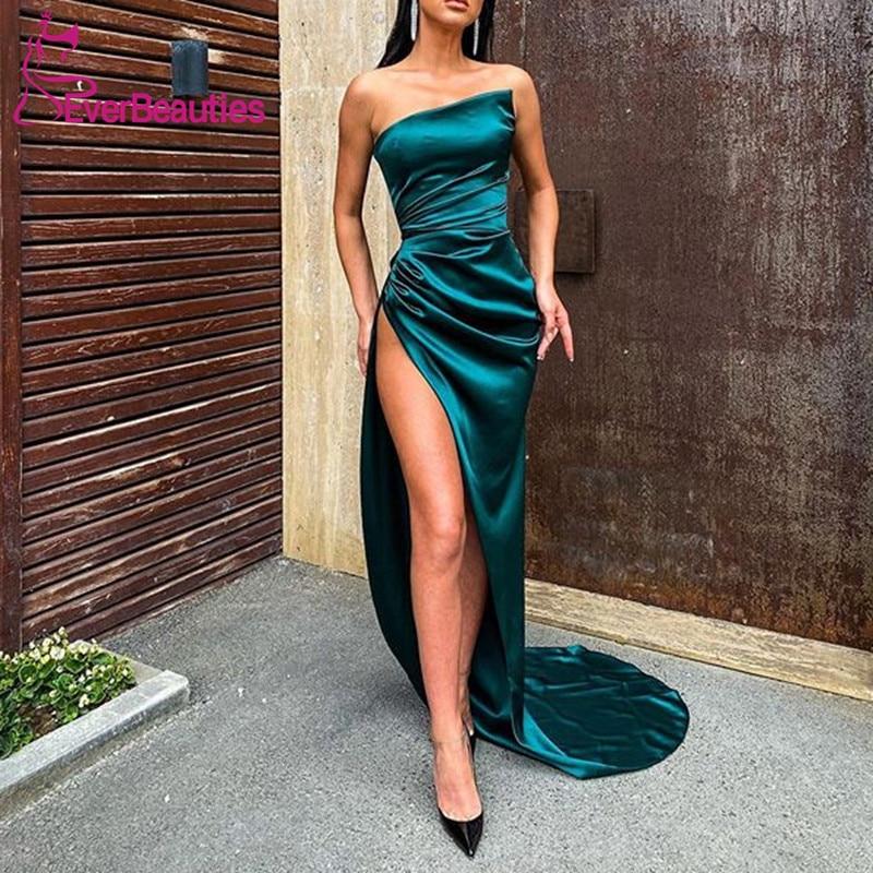 Querida sereia Longos Vestidos de Noite 2020 Side Dividir Vestidos De Fiesta Robe De Soirée вечерние платья suknie wieczorowe