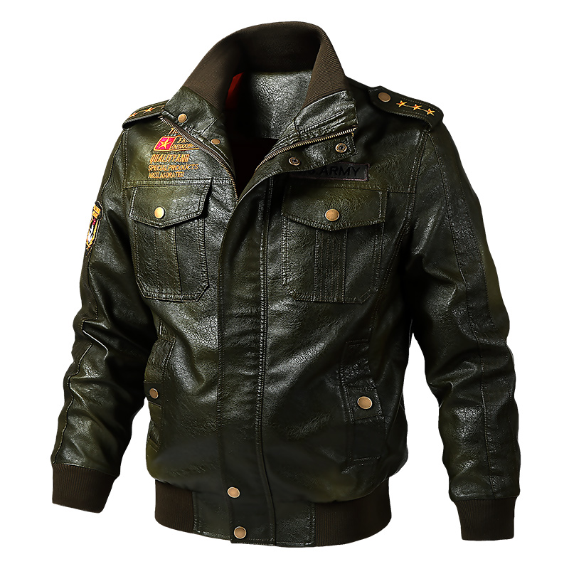 Autumn Winter Motorcycle Leather Jacket Men 5XL 6XL Men's Leather Bomber Jackets Jaqueta De Couro Masculina Mens Leather Coat