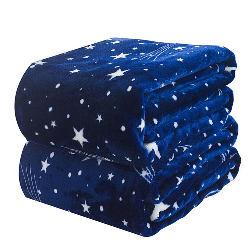High Quality Blanket Super Fleece Soft Warm Solid Warm Micro Plush Flannel Star Blanket Throw Rug Sofa Bedding Bedspread Winter-5