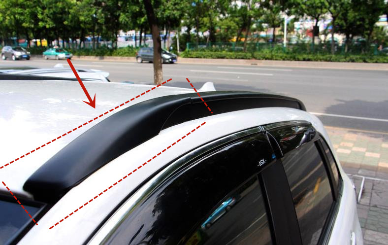For Mitsubishi ASX 2011-2019 ABS engineering plastics roof rack cover Luggage rack cover decorative protection car accessories