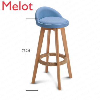 Bar Stool Nordic Modern Minimalist Home Solid Wood High Stool Bar Stool Bar Chair Leisure Back Chair Stool 3pcs lot nordic iron high stool bar stools modern minimalist home backrest dining chair cafe bar stool bar stool
