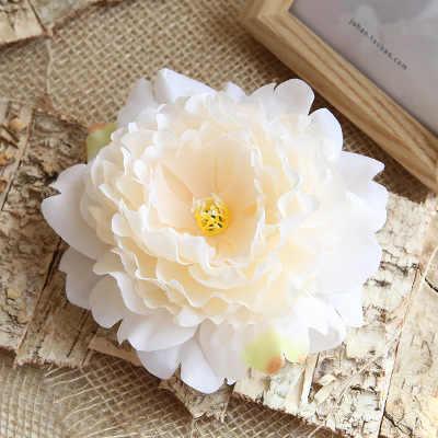 13 سنتيمتر الفاوانيا زهرة رئيس الحرير الزهور الاصطناعية الزواج عيد ميلاد حفل زفاف الزهور ديكور المنزل الزينة Flores