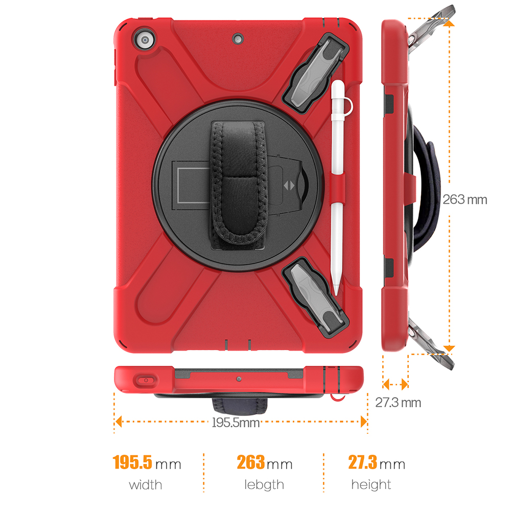 Case for iPad 10 2 Heavy Armor Kids Shokproof Cover A2197 A2198 A2200 A2270 A2428 A2429