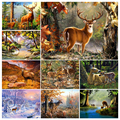 5D Diy Diamond Painting Deer Animal Cross Stitch Kit Full Drill Embroidery Elk Landscape Mosaic Art Picture Home Wall Decor Gift