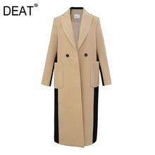Woolen Coat Elegant Collar Autumn Long-Tx253 Fashion Women's New Back Lapel Full DEAT