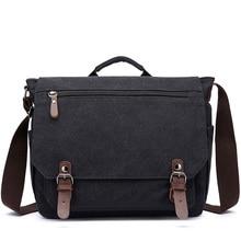 Bandolera mensajero Retro de lona multifunción para hombre y mujer, maletines sólidos, maleta con bolsillo para tarjetas, bolsa de oficina al aire libre XA288ZC