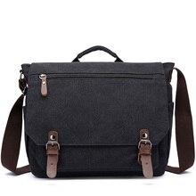 Retro ผ้าใบ Messenger ไหล่กระเป๋า Briefcases กระเป๋าเดินทางกระเป๋าสำหรับผู้ชายผู้หญิงกลางแจ้งสำนักงานกระเป๋า XA288ZC