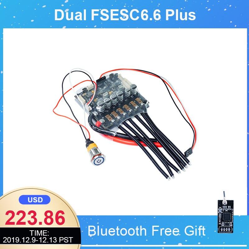 Double FSESC6.6 Plus basé sur le contrôleur de vitesse longue planche électrique VESC6 100A 12s Skateboard ESC FLIPSKY