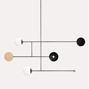 Image 1 - Postmodernen Minimalistischen Esstisch LED Anhänger Lampe Kreative Kunst Deco Parlor Halle Kaffee Shop Suspension Beleuchtung Leuchten