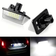 Led canbus nenhum erro luzes da placa de licença para toyota crown (2003 2009) número placa lâmpadas bulbo automotivo acessórios branco @ 12v