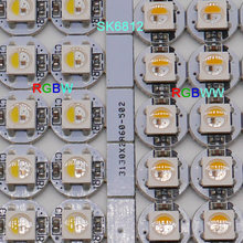 100 pces sk6812 led placa dissipador de calor rgbw/rgbww led chips (10mm * 3mm) sk6812 ic embutido 5050 smd rgb dc5v