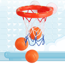 Basketball Hoop Playset Bathtub Shooting Game with 5 Balls Baby Playing Bath Water Toys Childrens Bathroom Suction Cup Toy