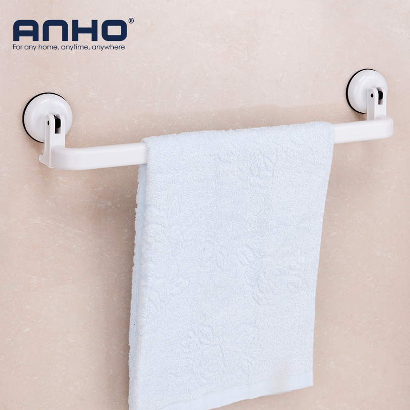 Removeable Suction Cup Towel Rack Reusable Waterproof Towel Holder Bathroom Storage Shelf Wall Mounted Towel Holder