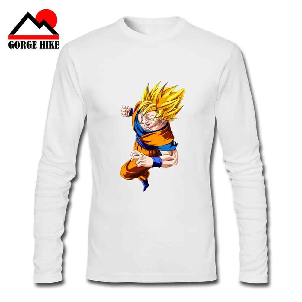 3D Dragon Ball Z Goku T-shirt Lange Hülse O-ansatz T-shirt Sommer Saiyan Vegeta Harajuku marke kleidung Japanischen manga Fans T hemd