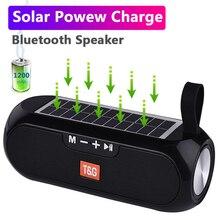 مكبر صوت بلوتوث خارجي يعمل بالطاقة الشمسية ، عمود محمول ، صندوق موسيقى ستيريو لاسلكي ، مكبر صوت راديو مقاوم للماء