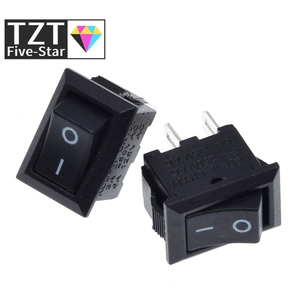 TZT 10pcs/lot 10*15mm SPST 2PIN ON/OFF G130 Boat Rocker Switch KCD11 3A/250V Car Dash Dashboard Truck RV ATV Home
