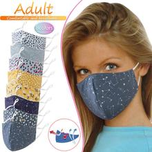 1PC colorful Printed Mask Reusable Fabric Face Mask Fashionable Neutral Washable Dustproof Masks three-dimensional for outdoor