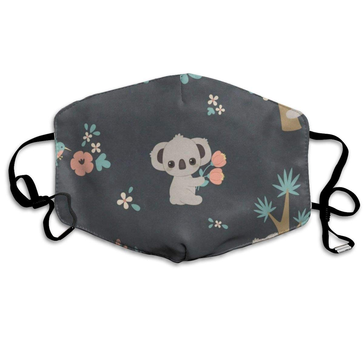 Koala Laying On Branch Personalized Dust Mouth Mask Reusable Anti-Dust Face Mask Adjustable Earloop Skin Protection